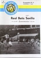 1.FC Lokomotive Leipzig - Real Betis Sevilla Cup Winners' Cup (19.10.1979) programme