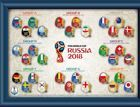 2018 FIFA World Cup Russia National Team 32 pins-collection (official product)
