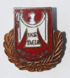 35 years of IKS Sleza Wroclaw with bronze garland (enamel)