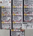 AC Sparta Prague home tickets 1997-2012 (17 items)