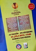 AS Trencin - IFK Goteborg UEFA Europa League match programme (25.07.2013)