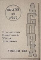 """Agora"" - Bulletin of Sport Souvenirs Collectors Association - volume 2(5)/1988"