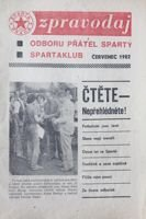 Bulletin of Sparta Plaga Fan's Club (July 1982)