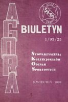 "Bulletin of Sport Souvenirs Collectors Association ""Agora"" nr 1(25)/1993"