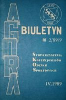 "Bulletin of Sport Souvenirs Collectors Association ""Agora"" nr 2(9)/1989"