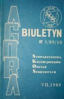"Bulletin of Sport Souvenirs Collectors Association ""Agora"" nr 3(10)/1989"