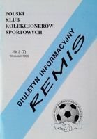 """Draw"" - Bulletin of Polish Sport Souvenirs Collectors Club - volume 3(7) (September 1999)"
