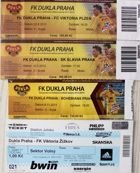 Dukla Prague home tickets 1997-2013 (8 items)