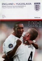 England - Yugoslavia U21 friendly match (06.09.2002) official programme
