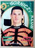 Gornik Leczna - Wawel Cracow Second league match ticket (08.05.1999)