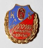 KS Grom Wolsztyn with garland (enamel)