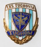 LKS Tuchovia Tuchow with emblem stuck on (enamel, with signature)