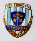 LKS Tuchovia Tuchow with garland (enamel, with signature)