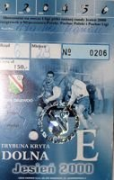 Legia Warsaw Autumn round 2000 ticket booklet