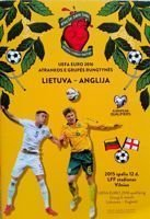 Lithuania - England UEFA Euro 2016 qualification match official programme (12.10.2015)