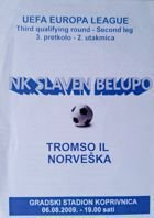 NK Slaven - Tromso IL UEFA Europa League official match programme (06.08.2009)