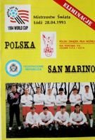Poland - San Marino World Cup USA'94 qualifying (28.04.1993) official programme