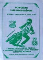 Pomerania Youth Speedway League programme (01.06.1999)