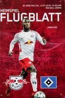 RB Leipzig - Hamburger SV Bundesliga (27.01.2018) official programme