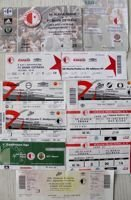 SK Slavia Prague home tickets 1997-2014 (11 items)