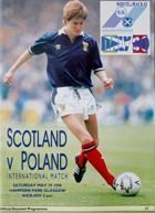 Scotland - Poland friendly match (19.05.1990) official programme