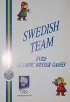 Swedish Olympic Team of the XVIIth Winter Olympic Games Lillehammer 1994