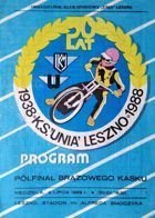 The Bronze Helmet Speedway Tournament Semifinal (Leszno, 02.07.1989)