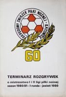 The Calendar of Polish I and II football league - Autumn 1980