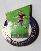 The Costa Rican Football Federation (enamel, signature)