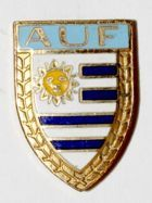 Uruguayan Football Association (enamel; signature)