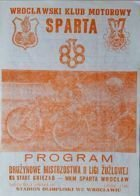 WKM Sparta Wroclaw - KS Start Gniezno Speedway Poland league match programme (19.05.1985)