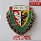 WKS Slask Wroclaw with garland (enamel; official product)