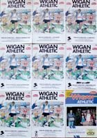 Wigan Athletic official programmes 1986-1987 (9 items)