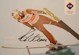 Kamil Stoch (ski jumping) with original autograph postcard
