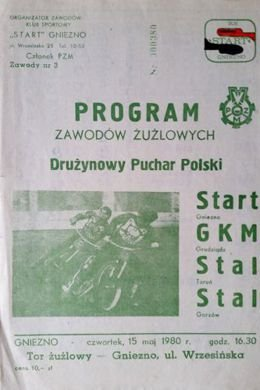 Speedway Teams Polish Cup programme (Gniezno, 15.05.1980)