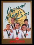 1996 Atlanta Summer Olympic Games Polish medallist's postcard