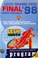 1998 Speedway World Championship Grand Prix programme (Prague, 15.05.1998)