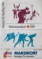 2 Postcards Winter Olympic Games Lillehammer 1994 (Norway)