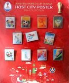 2018 FIFA World Cup Russia host city poster 12 pins-collection (official product)