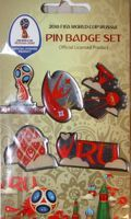 2018 FIFA World Cup Russia pin badge set (epoxy; official licensed product)
