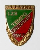 25th Anniversary of LZS Tempo Rzeszotary with garland (enamel, with signature and number)