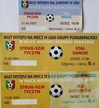 3 tickets Strug SZiK Tyczyn IV league matches (2003-2004)