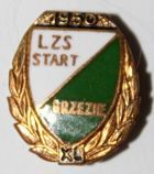 40 years LZS Start Brzezie with garland (enamel, with signature)