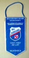 40 years of WKS Olesniczanka Olesnica pennant