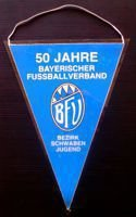 50 years of Bavaria Football Association pennant