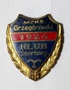 65 years MZKS Grzegorzecki Cracow with golden garland (enamel)