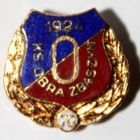 70 years of KS Obra Zbaszyn with golden garland (enamel)
