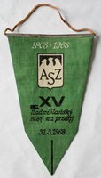 AZS Cracow. XV Nadwiślanski Cross-country run pennant (1968)