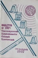 """Agora"" - Bulletin of Sport Souvenirs Collectors Association - volume 1/1987"