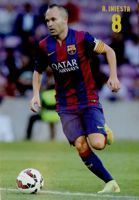Andres Iniesta (FC Barcelona) official postcard
